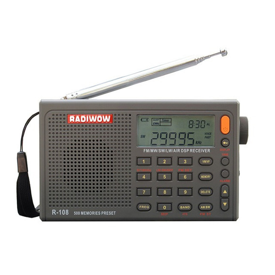Rádio Radiwow Digital R-108 Am/fm Stéreo/lw/sw/air Importado