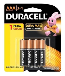 Pilha Duracell Aaa Pack C/ 4 Unidades 1004952