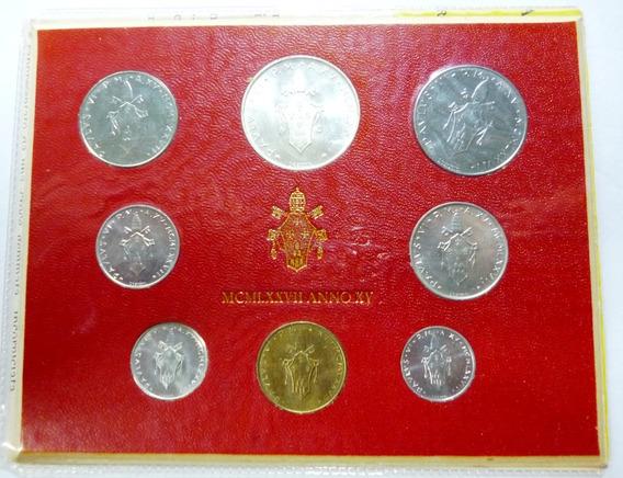 Vaticano Set X 8 Monedas En Blister 1977 Unc Pablo Vl