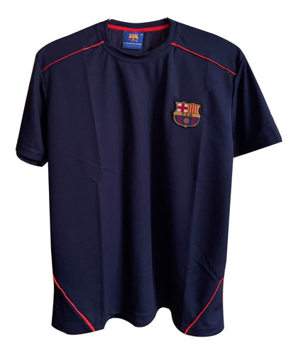 Remera Microfibra Barcelona Deportiva Futbol Barsa Poliester
