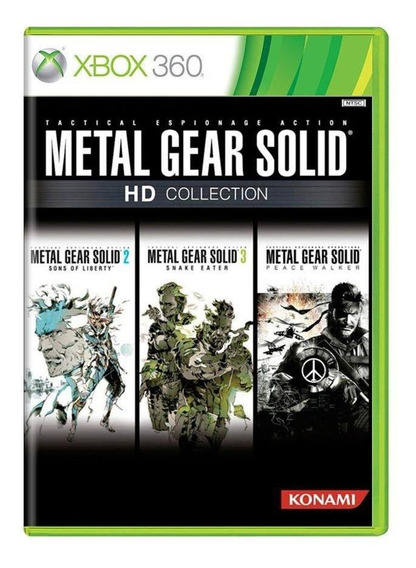 Metal Gear Solid Hd Collection Xbox 360 Mídia Fìsica