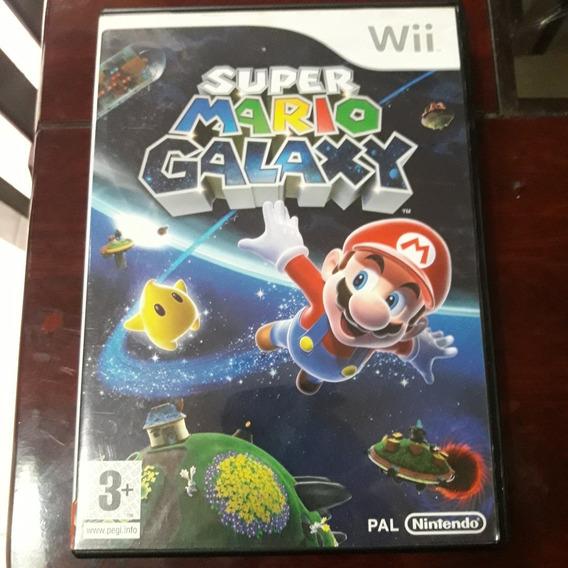 Wii Super Mario Galaxy Original Mídia Física Versão Européia
