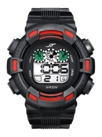 Reloj Quarzo Digital Nt Rojo Con Negro Deportivo