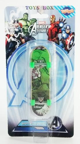 Skate De Dedo Fingerboard - Hulk - Marvel - Avengers