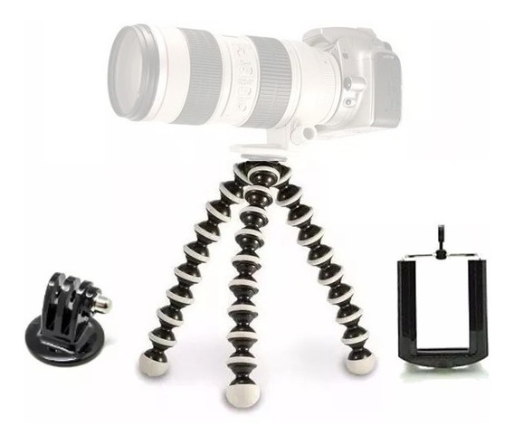 Mini Tripé Mesa Octopus Cameras Nikon Suporte Celular Gopro