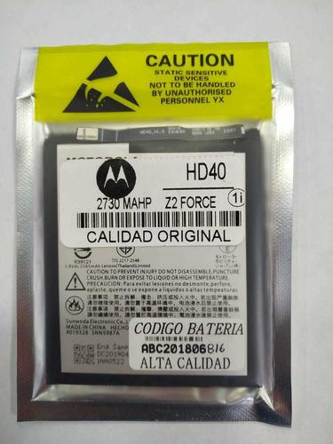 Bateria Hd40 Moto Z2 Force