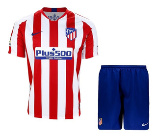 Camisa Do Atlético De Madrid Infantil + Shorts - Original