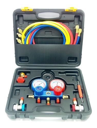 Manometro Aire Acondicionado R134a C/acop Rapidos+llave Ovul