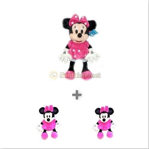 Kit 2 Minnie Rosa De 50 Cm + 4 Minnie Rosa De 27 Cm