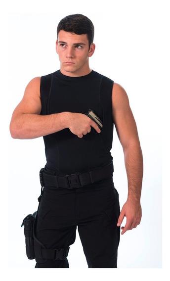 Remera Táctica Cover Cop Spy Sobaquera Sin Mangas Hombre