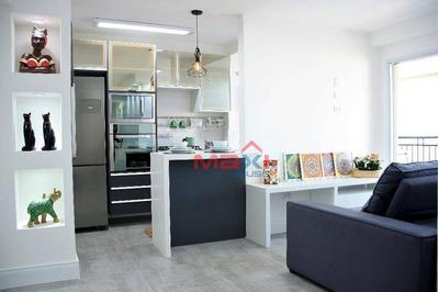 Apartamento Mobiliado No Condomínio Mont Blanc, No Bela Vista, Osasco - Ap0629