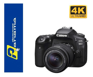 Canon 90d Video 4k 32.5mp 10 Fps Lente 18-55mm
