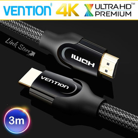 Cabo Hdmi 2.0 Vention Monster 3m Blindado Ultra Hd 4k Hdr 3d
