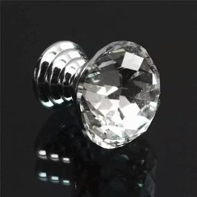 Puxador Cristal Diamante Gaveta Porta 20mm 1 Peça