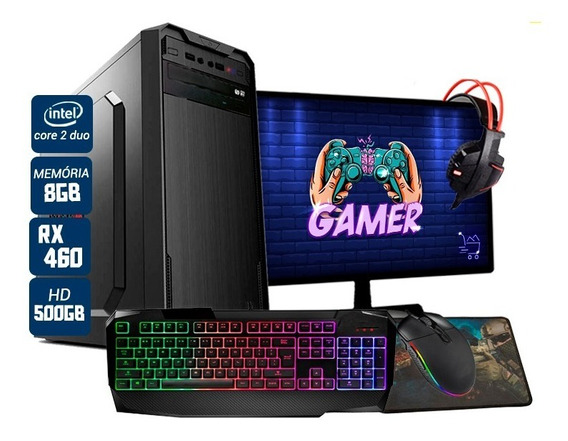 Pc Gamer Completo Aires Intel Rx 460 8gb Hd 500gb Wi-fi