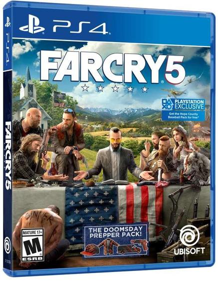 Far Cry 5 Mídia Física Com Pacote Doomsday Prepper Ps4