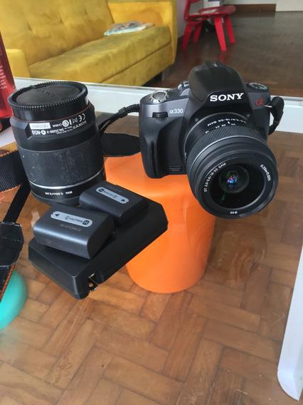 Câmera Alpha 330 Sony E Lente 200mm