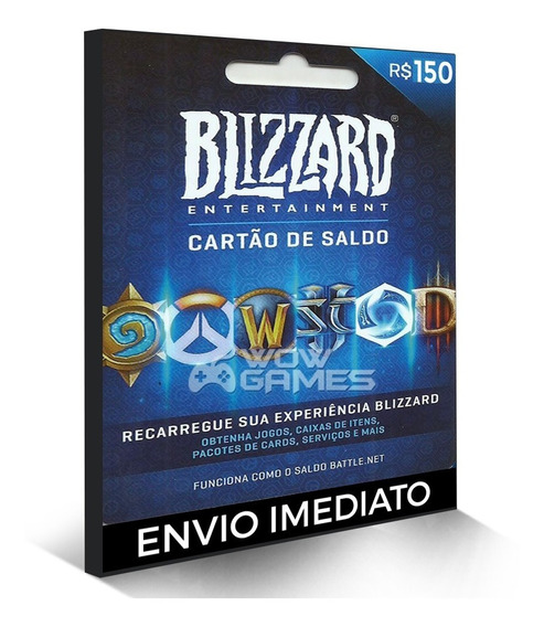 Cartão Battle.net R$ 150 Reais Blizzard Warcraft Overwatch