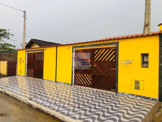 Casa Na Praia De Itanhaém 3 Dormitórios. Utilize Seu Fgts
