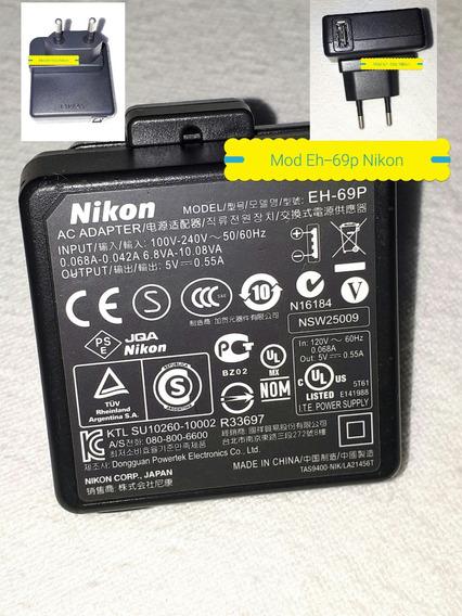 Fonte Carregador Nikon Eh-69p Original Inputs100v~240v/50/60