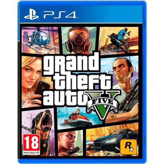 Grand Theft Auto V Gta5 Ps4 Disco Físico Novo Português Br