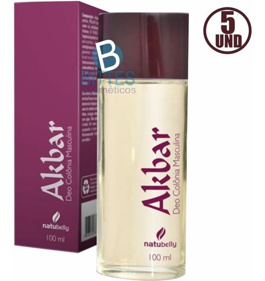 5 Perfume Masculino Natubelly Akbar 100 Ml Colonia Atacado