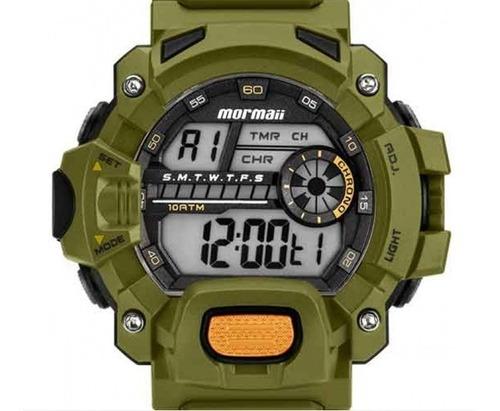Relógio Mormaii Masculino Acquaforce Verde Mozm1132 8v