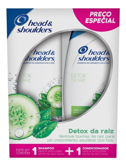 Kit Shampoo + Cond Head & Shoulders Detox Da Raiz 200ml