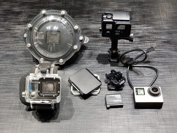 Gopro Hero 4 Silver Tela Lcd + Acessórios + Dome + Pulso
