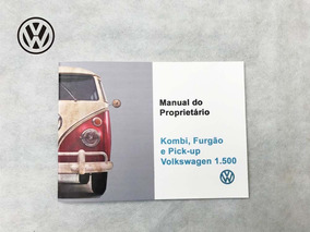 Manual Do Proprietario Vw Kombi 68 1968 + Brinde