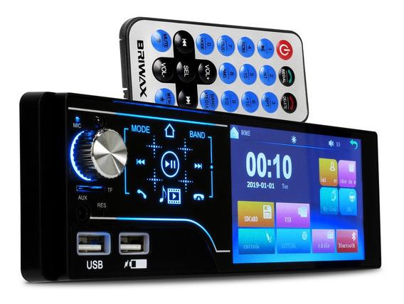 Central Multimidia Digital Universal Mp5 1 Din Usb Bluetooth