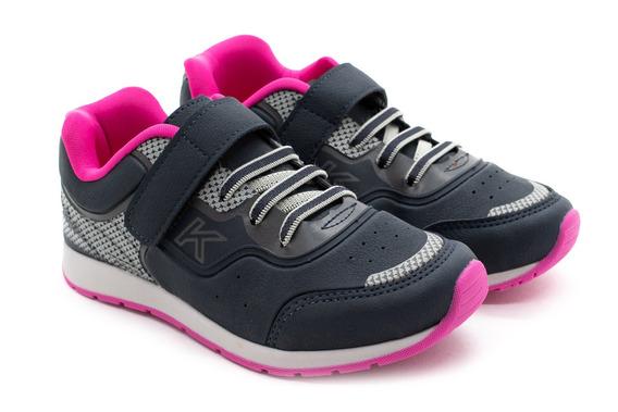 Tênis Kidy Style 097.1141.3503 Marinho/pink