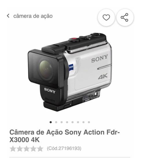 Câmera Sony Action 4k