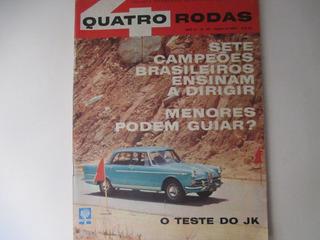 Quatro Rodas 25 Ago-62 O Teste Do Jk-fnm Ponta Grossa Paraná