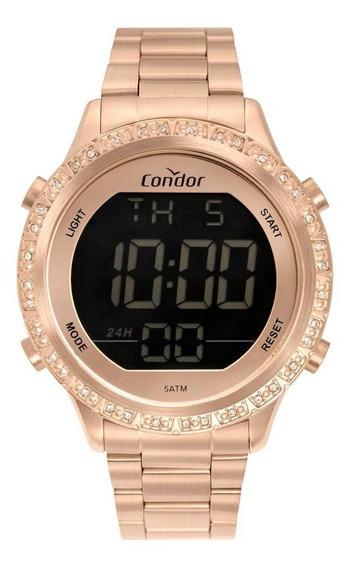 Relógio Condor Feminino Digital Rosé - Cobj3463ak/4j
