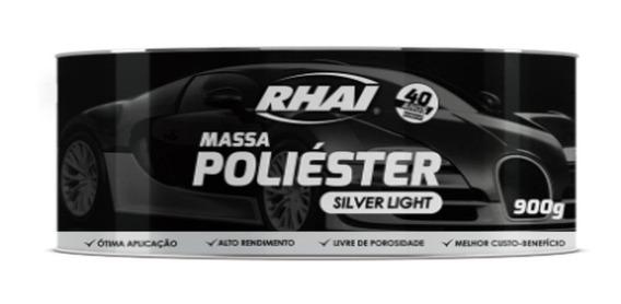 12 Pçs Massa Poliéster Silver Light Rhai 900g
