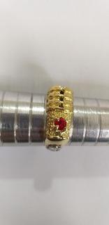 Anel De Formatura Direito Com Brasão Em Prata Pedra Rubi