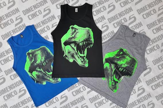 Remeras Dinosaurios Brillan En La Oscuridad