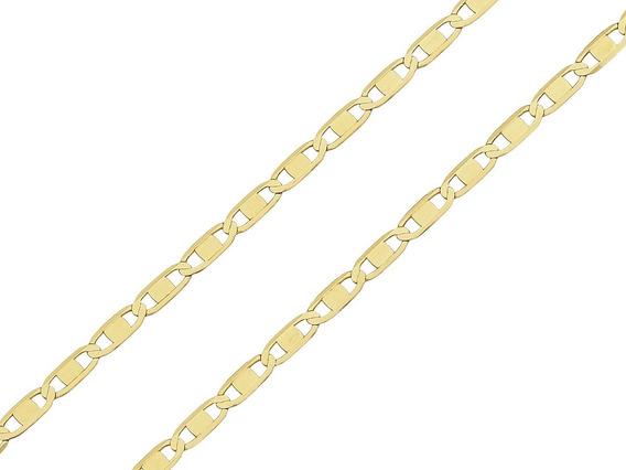 Corrente Cordão Piastrine 60cm Masculino Ouro 18k