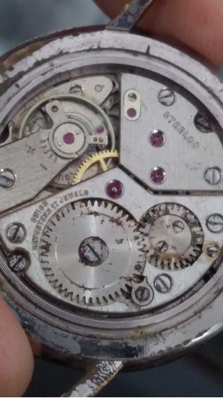 Antiguo Reloj Steelco Años 40 17 Joyas De Cuerda