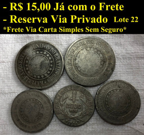 Lote De Moedas Nacionais/brasileiras Lote 22