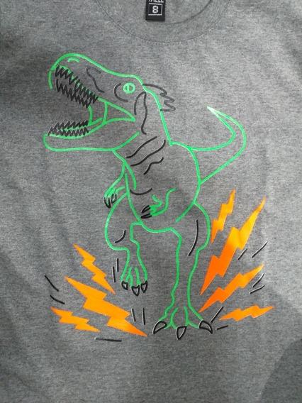 Remeras Dinosaurios Brillan En La Oscuridad.