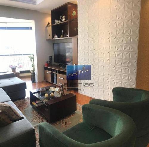 Apartamento Com 3 Dormitórios À Venda, 87 M² Por R$ 750.000,00 - Anália Franco - São Paulo/sp - Ap0638