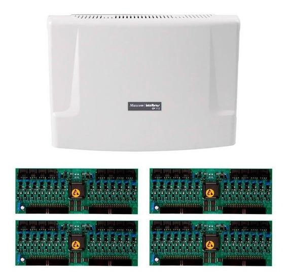 Kit Central Comunicação Intelbras Cp 112 + Placa 64 Ramais