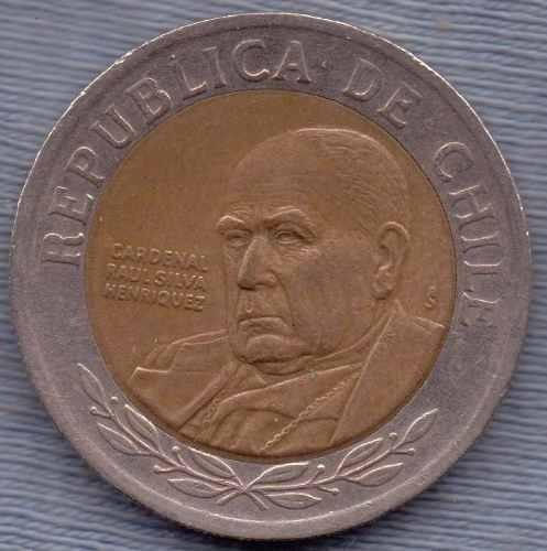 Chile 500 Pesos 2001 * Bimetalica * Cardenal Raul Henriquez