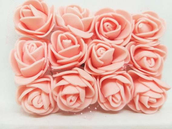 Flores De Goma Eva 2,5 Cm Pack X 12 Unidades