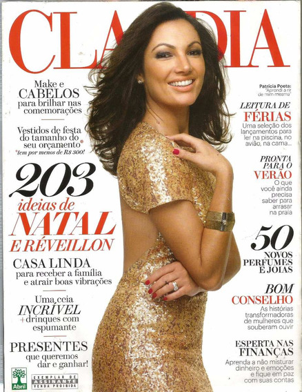 Revista Claudia Dez/2012 - Patricia Poeta - Helo Pinheiro