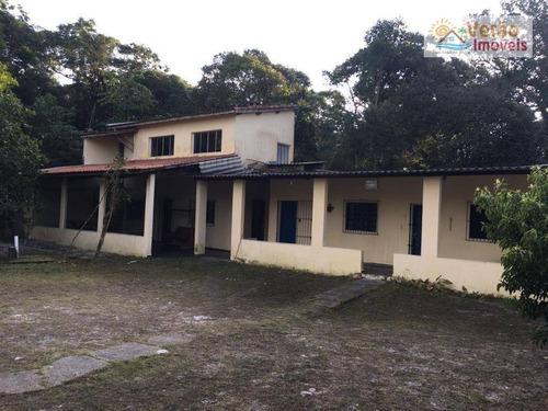 Chácara Com 3 Dormitórios À Venda, 1565 M² Por R$ 235.000,00 - Jardim Coronel - Itanhaém/sp - Ch0011