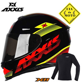 Capacete Axxis Eagle Logo Preto Mais Blusa X11 Original