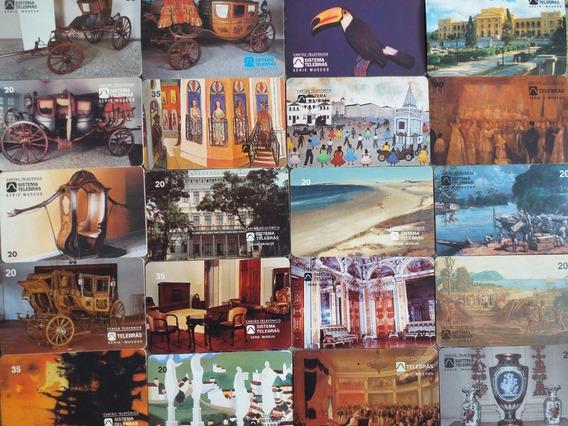 68 Cartoes Telebras Serie Museus Sem Repetidos